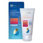 crème solaire anti taches visage SPF50 Dead sea Spa Magik